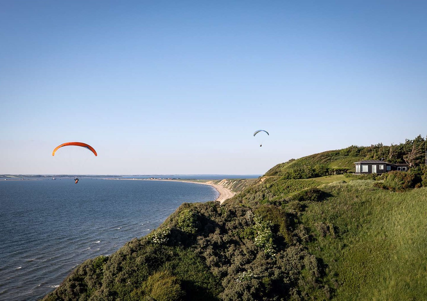 Paragliding ved Toftum Bjerge